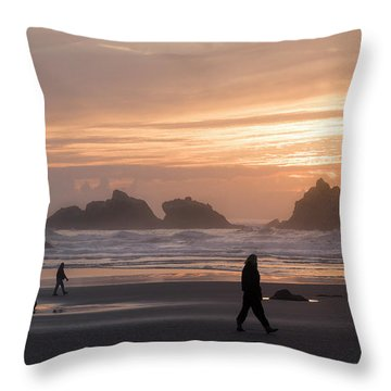 Beach Combers  Throw Pillow