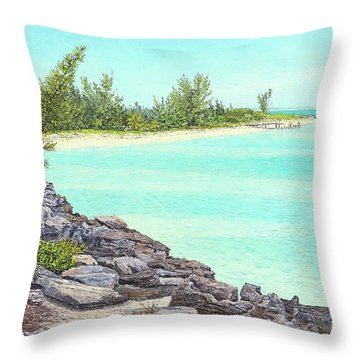 Beach Cove Throw Pillow