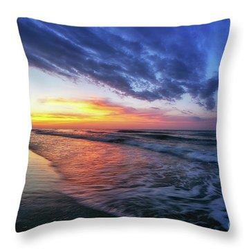 Beach Cove Sunrise Throw Pillow