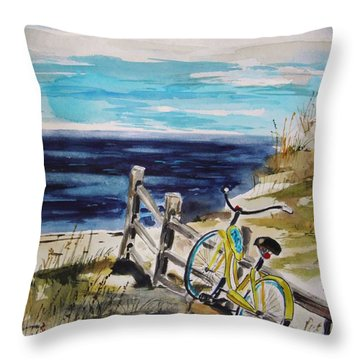 Beach Cruiser Throw Pillow by John Williams