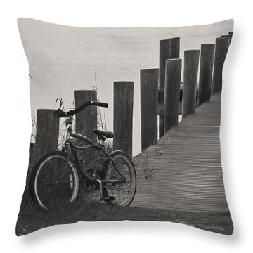 Beach Cruiser Throw Pillow