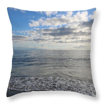 Throw Pillow featuring the photograph Beach Day - 3 by Christy Pooschke