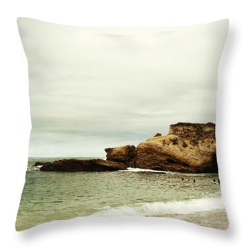 Beach Day At Montana De Oro Inspooner's Cove San Luis Obispo County California Throw Pillow