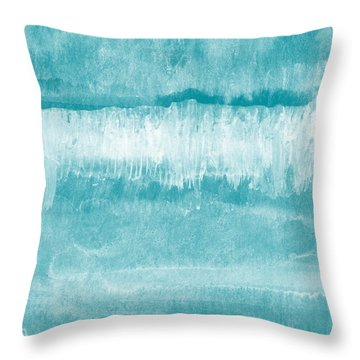 Waves Throw Pillows