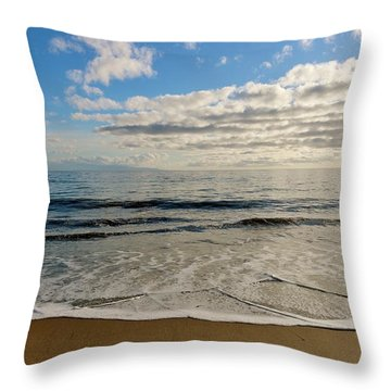 Throw Pillow featuring the photograph Beach Day  by Christy Pooschke