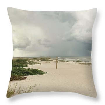 Throw Pillow featuring the photograph Beach Day by Raymond Earley