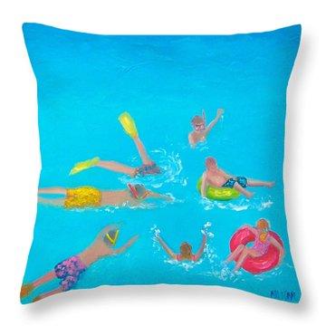 Beach Decor 'holiday Splash' By Jan Matson Throw Pillow