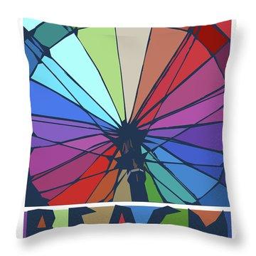 Beach Design By John Foster Dyess Throw Pillow