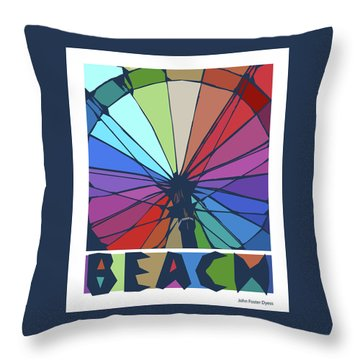 Throw Pillow featuring the digital art Beach Design By John Foster Dyess by John Dyess
