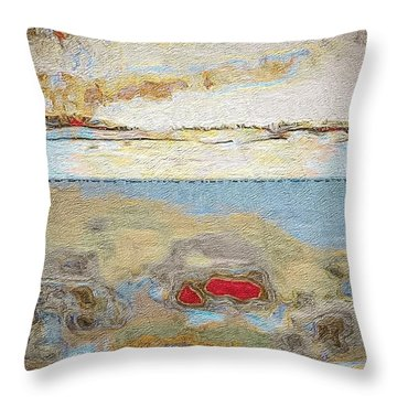 Beach Dunes Throw Pillow by William Wyckoff