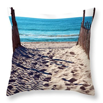 Beach Entry On Long Beach Island Throw Pillow