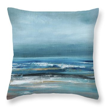 Beach Exercise Throw Pillow