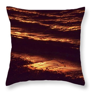 Beach Fire Throw Pillow by Laurie Stewart