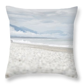 Beach For Two Throw Pillow