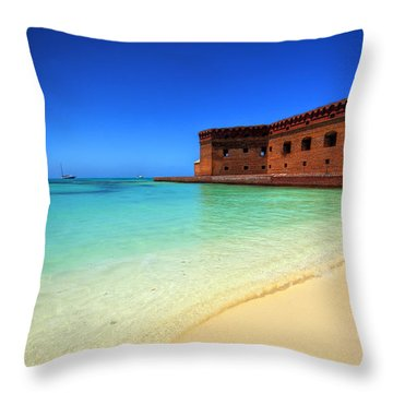 Beach Fort. Throw Pillow