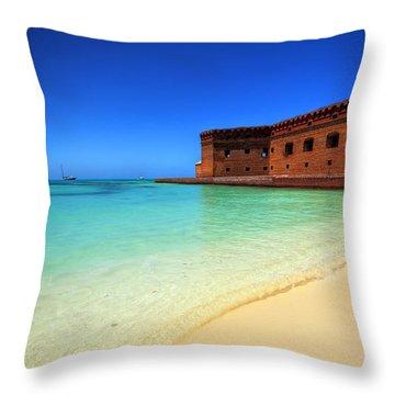 Beach Fort. Throw Pillow