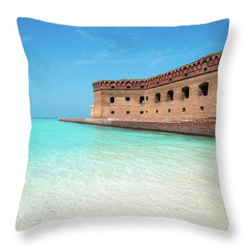 Beach Fort Throw Pillow