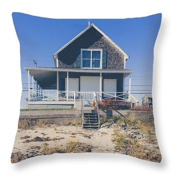 Throw Pillow featuring the photograph Beach Front Cottage by Edward Fielding