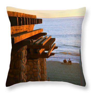 Beach Gateway Throw Pillow by Bill Dutting