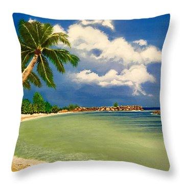 Beach Getaway Throw Pillow
