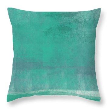 Beach Glass- Abstract Art Throw Pillow