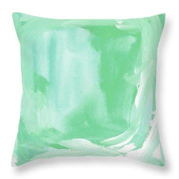 Beach Glass Blues Abstract- Art By Linda Woods Throw Pillow