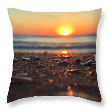 Beach Glow Throw Pillow