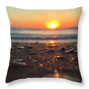 Beach Glow Throw Pillow by LeeAnn Kendall