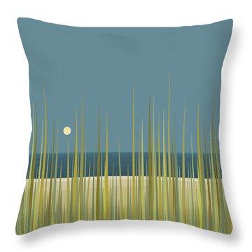 Beach Grass And Blue Sky Throw Pillow