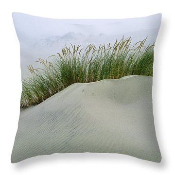Beach Grass And Dunes Throw Pillow