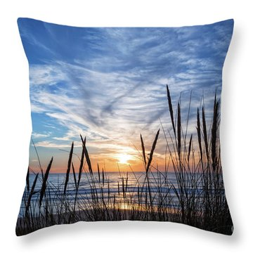 Throw Pillow featuring the photograph Beach Grass by Delphimages Photo Creations