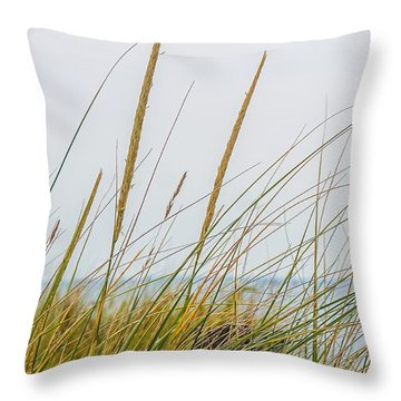 Throw Pillow featuring the photograph Beach Grass by Kendall McKernon