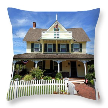 Throw Pillow featuring the photograph Beach Haven Architecture by John Rizzuto
