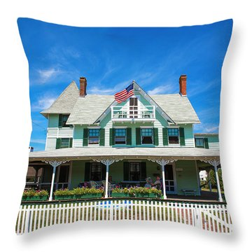 Throw Pillow featuring the photograph Beach Haven Style by John Rizzuto