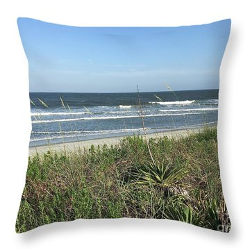 Beach Here I Come Throw Pillow