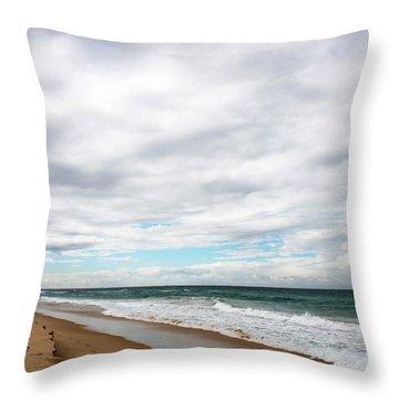 Beach Horizon - Surfer's Paradise Throw Pillow