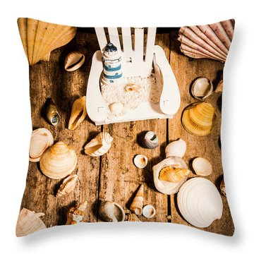 Beach House Artwork Throw Pillow
