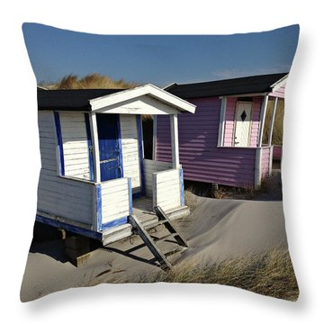 Beach Houses At Skanor Throw Pillow