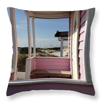 Beach Houses Throw Pillow