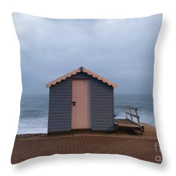 Beach Hut Throw Pillow