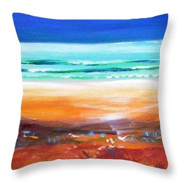 Beach Joy Throw Pillow