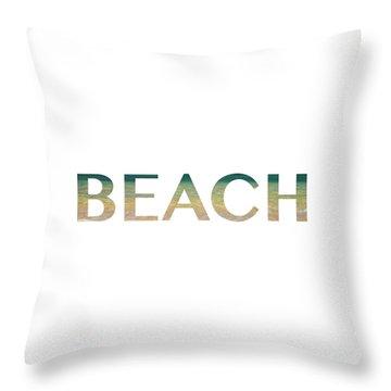 Beach Letter Art Throw Pillow