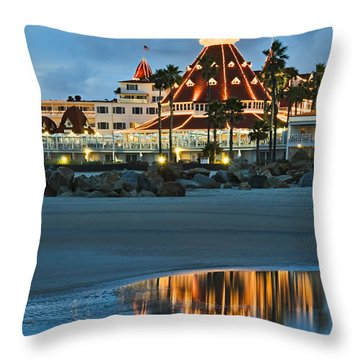 Beach Lights Throw Pillow