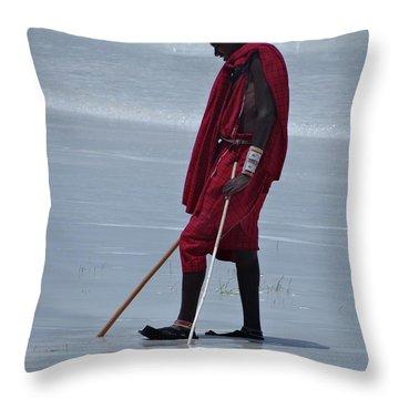 Beach Maasai Throw Pillow
