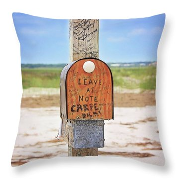 Beach Mail Throw Pillow