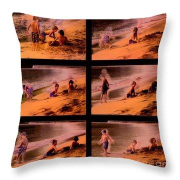 Beach Memories Throw Pillow by Madeline Ellis