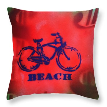 Beach Money By Robert E. Rodriguez Throw Pillow