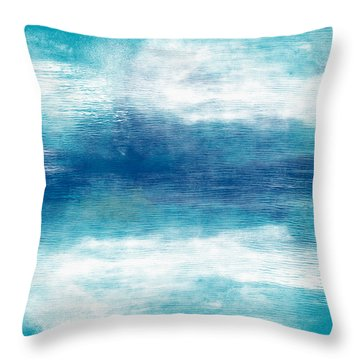 Beach Mood 2- Abstract Art By Linda Woods Throw Pillow