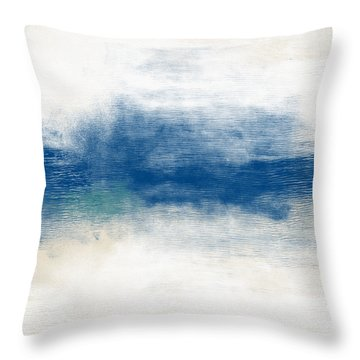 Beach Mood- Abstract Art By Linda Woods Throw Pillow
