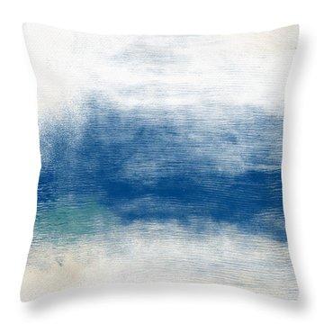 Beach Mood Landscape- Art By Linda Woods Throw Pillow